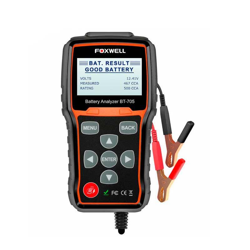 Analizador de batería Foxwell BT705 12V y 24V
